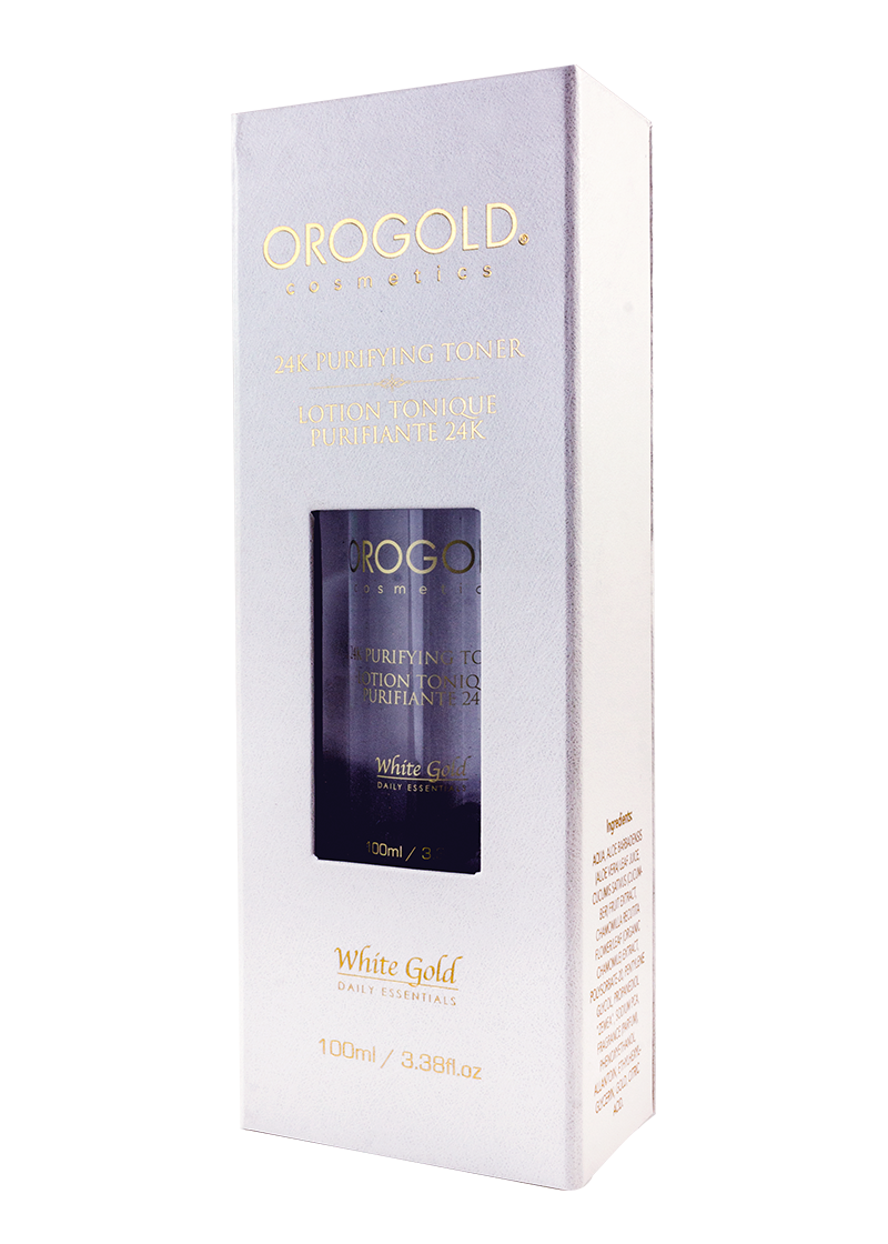 OROGOLD White Gold 24K Purifying Toner case