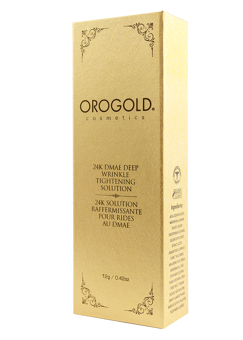 OROGOLD 24K DMAE Deep Wrinkle Tightening Solution Box
